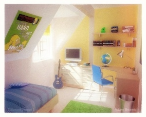 Kid's bedroom.