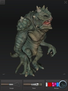 The Gremlor Monster in 123D Creature.