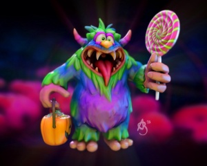 Candy Monster, 123D Creature.