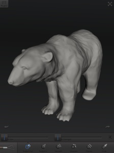 Polar Bear, 123D Creature.