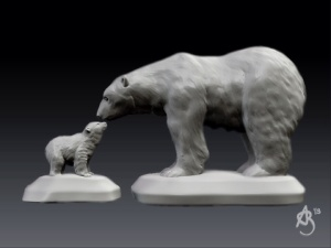 Polar Bears, 123D Creature.