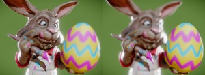 Easter Bunny. Created in 123D Sculpt+. Rendered in Sketchfab.